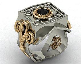 3D print model male signet ring eastern