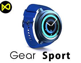 3D model Samsung Gear Sport Smartwatch Blue