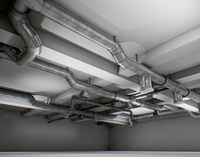 3D asset interior air ducts modular system 38 elements