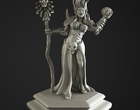 chaos necromancer girl 3D print model