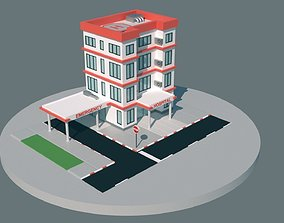 HOSPITAL LOW-POLY STYLE 3D asset