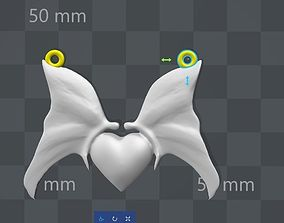 Heart with butterfly pendant 3D printable model