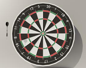 Throwing Dart and Bullseye 3D asset