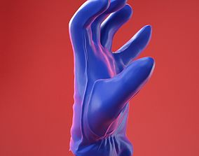 Male Gloved Hand 12 3D