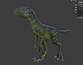 Velociraptor 3D model animated VR / AR ready