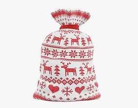 Christmas gift bag Santa Claus 02 3D model