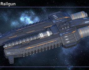 Orbital Railgun 3D asset