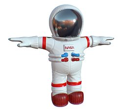 3D asset Cartoon Space Suit