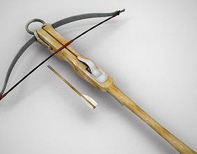 3D model low-poly Crossbow