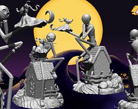 3D printable model Jack Skellington And Zero - The 2