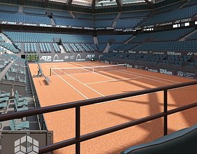Tennis Arena Clay 3D