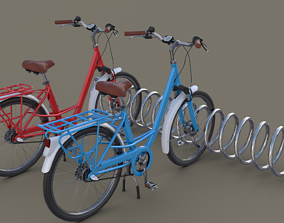 3D Bike Stand with Bikes