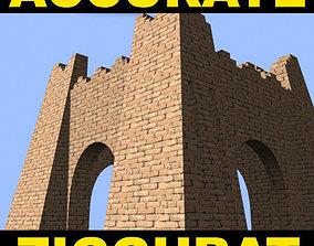 ancient The Accurate Ziggurat of Ur - 3d model