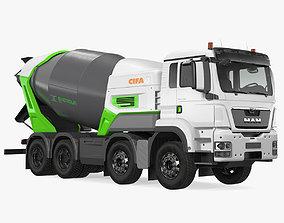 Electric Hybrid Mixer Truck Energya E9 3D