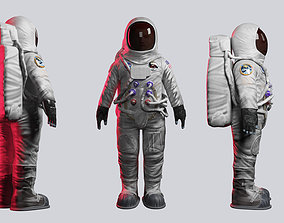 Astronaut 3D model rigged rigged game-ready