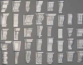 3D molding Corbels Collection -1 - 38 pieces