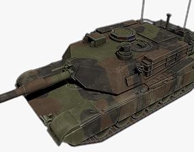 3D asset low-poly M1A2 Abrams Main Battle Tank