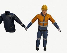 Worker 3D model realtime PBR