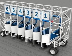 3D model Gate - Start Gate for Horse Racing - 6 Stalls - 1