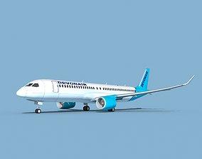 Airbus A220-300 Devon Air 3D