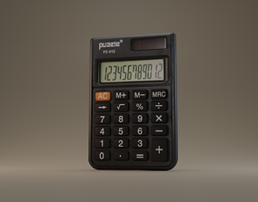 Calculator 3D model game-ready
