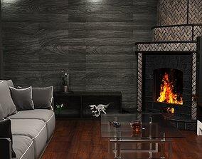 3D asset Fireplace