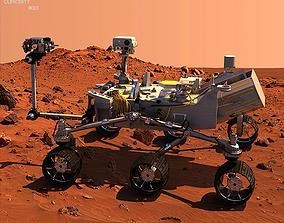 3D Curiosity Mars Rover
