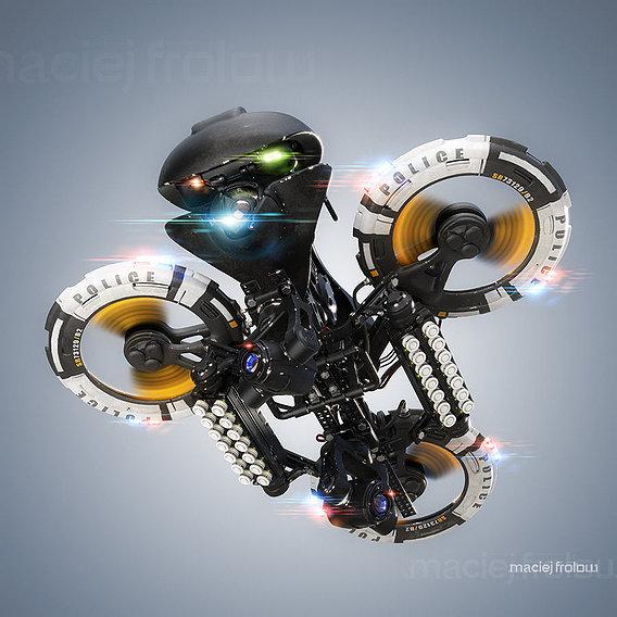Police heavy drone