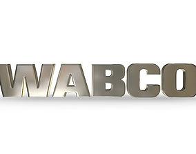 3D model wabco logo
