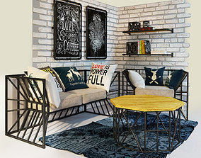 Armchair and sofa Loft 3D
