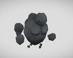 Rock elemental animated 3D asset