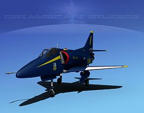 Douglas A-4D Skyhawk Blue Angel 3D