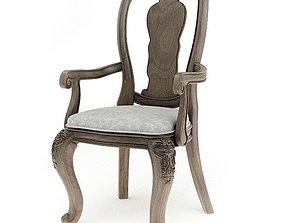Antique Wooden Chair 3D model