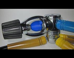 SCUBA - INT or YOKE Regulator Dust Cap 01 3D print model
