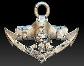 Pirate Skull 2 - relief - 2020 3D print model