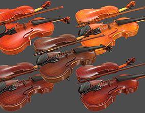 3D model Viola and Bow - HQ PBR Prop