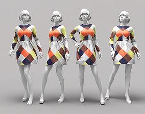 suit 3D Woman Mannequin