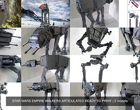 3D model STAR WARS EMPIRE WALKERS ARTICULATED READY TO