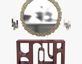 Brabbu cay mirror colosseum console and ombak wall 3D