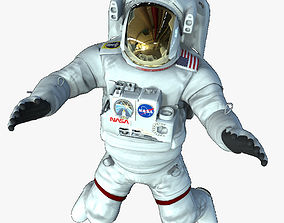 Rigged Astronaut 3D model