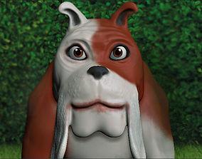 3D asset Cartoon bulldog