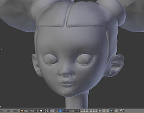 3D model Stylized Little Girl Base Mesh