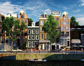 amsterdam street scene 3D