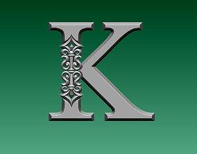 3D printable model letters letter K