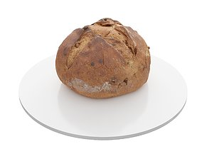 Photorealistic 3D Scanned Bread 02 low-poly