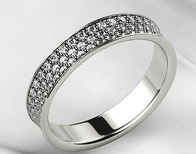 Pave Setting Gold Ring 3D print model