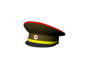 3D asset Red Army Peaked Cap
