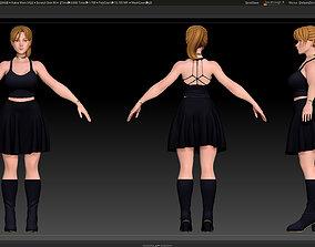 ZBrush Stylized Character Female Base Mesh No18 3D model 1
