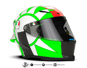 3D model Helmet racing - MotoGP - AG - rossi design