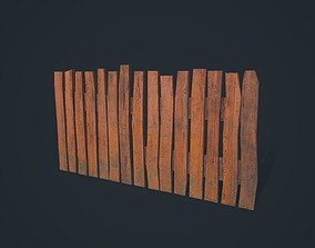 open 3D asset realtime Wooden Fence